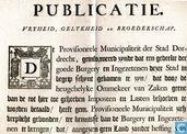 De Provisioneele Municipaliteit der Stadt Dordrecht, Publicatie Vryheid, Gelykheid en Broederschap, 1795