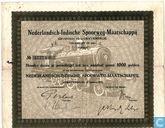 Nederlandsch-Indische Spoorwegmaatschappij, Aandeel 1000 Gulden, 1922