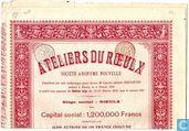 Ateliers du Roeulx, Part de Fondateur, 1910