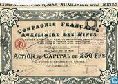 Compagnie Française Auxiliaire des Mines, Action de Capital de 250 Frs, 1924
