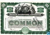 American International Corporation, Certificate for 100 shares