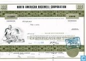 North American Rockwell Corporation, Certificate for 100 shares, Common stock