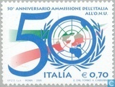 Italy 50 years a member of the United Nations