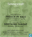 Sachets et étiquettes de thé - Sonnentor [r] -  4 Wieder Gut ! FROSCH IM HALS Kräuterteemischung | It's All Good ! SOOTHING THROAT Herbal Tea Blend
