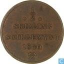 Norway ½ skilling 1840