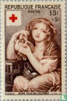 Frankrijk [FRA] - Meisje met duiven
