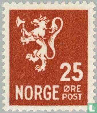Norvège - Lion des armoiries