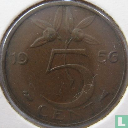 Niederlande - Niederlande 5 Cent 1956