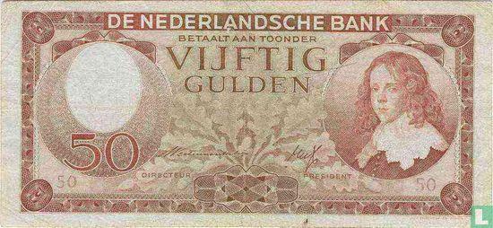 Geldzuivering Nederland - 50 guilder Netherlands 1945
