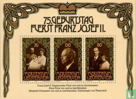 Liechtenstein - Vorst Franz Josef II - 75e verjaardag