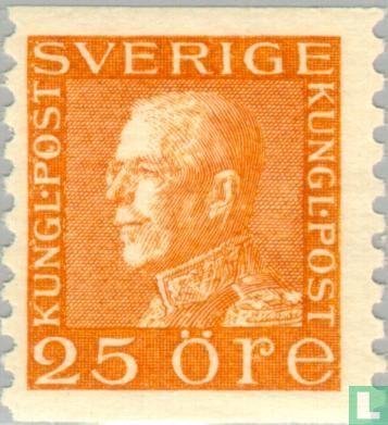 Zweden [SWE] -  Koning Gustaf V profiel links