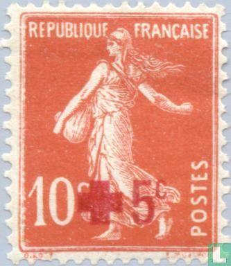 France [FRA] - Red Cross, with overprint