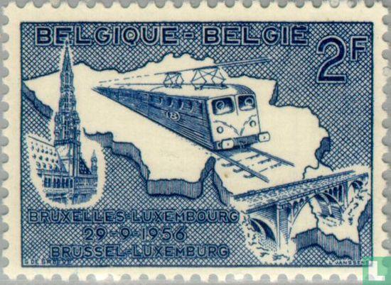 België [BEL] - Elektrificatie spoor naar Luxemburg