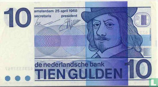 10 gulden Nederland 1968 (bullseye) - Afbeelding 1