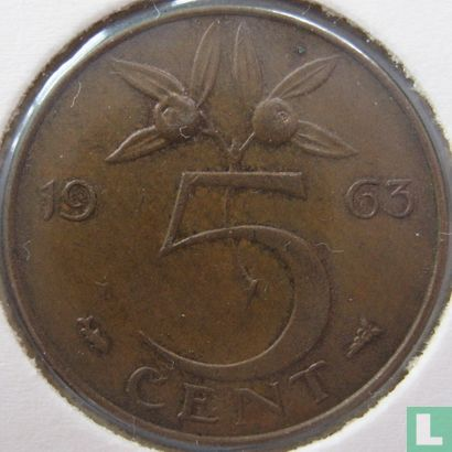 Niederlande - Niederlande 5 Cent1963