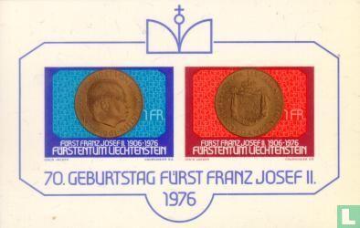 Liechtenstein - Vorst Franz Joseph II 70 jaar