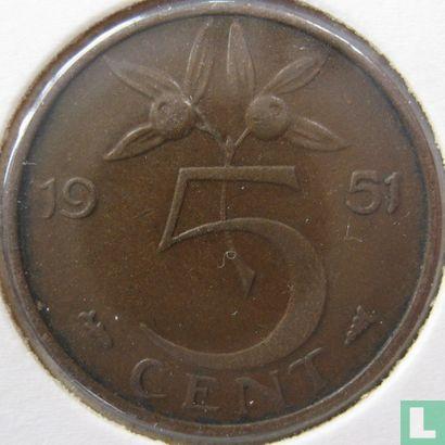 Niederlande - Niederlande 5 Cent 1951