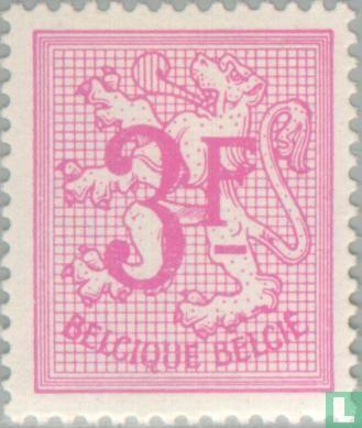 Belgique [BEL] - Chiffre sur lion héraldique