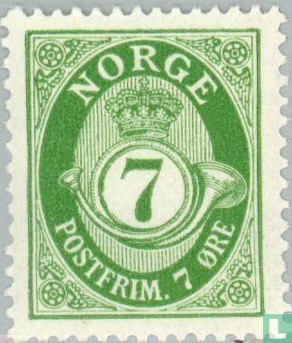 """Norvège - 1920 Posthoorn """"Norge"""" dans Antiqua 7"""