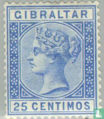 Gibraltar - Queen Victoria Spanisch Wert