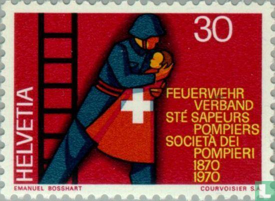 Suisse [CHE] - Office fédéral de 100 années d'incendie