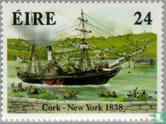Steamship Ozeanüberquerung