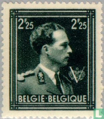 Belgium [BEL] - King Leopold III with 'V'
