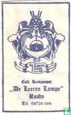 "Sachet - Café Restaurant ""De Leeren Lampe"""