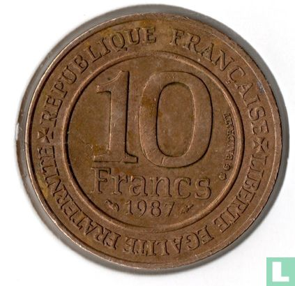 "France - France 10 francs 1987 (nickel-bronze) ""Millennium of the Capetian dynasty"""