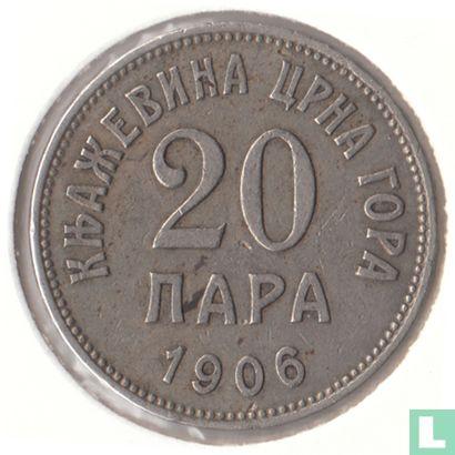 Montenegro - Monténégro 20 par 1906