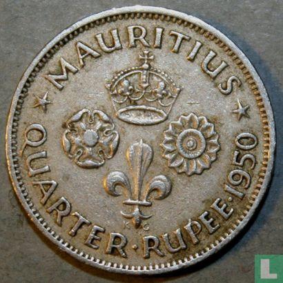 Maurice (Ile) - Maurice ¼ roupee 1950