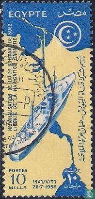 Egypte (U.A.R.) - Nationalisatie Suezkanaal