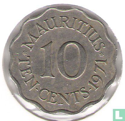 Mauritius - Mauritius 10 cents 1971