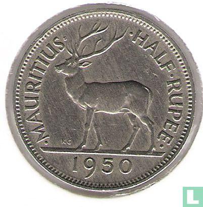 Mauritius - Mauritius ½ rupee 1950