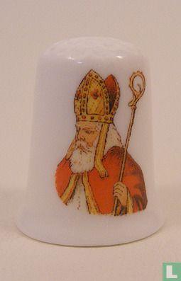 Sinterklaas bedrukt op een porselein vingerhoedje