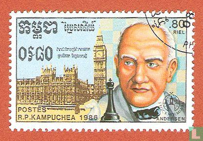 Cambodja - Stockholmia 86 - Schaakspelers