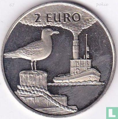 """2 Euro Sail Den Helder 1997 """"Stoomvaart/Zilvermeeuw"""" - Afbeelding 1"""