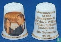 Vingerhoed verloving William & Kate