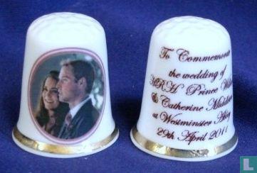 Vingerhoed huwelijk William & Kate