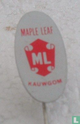 Maple Leaf - Amsterdam - Maple Leaf kauwgom (ovaal) [oranje]