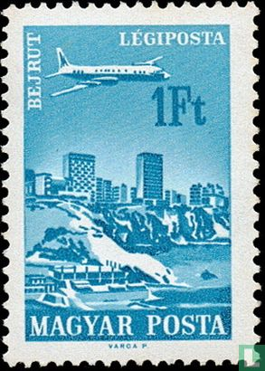 Ungarn - Luftpost Städte