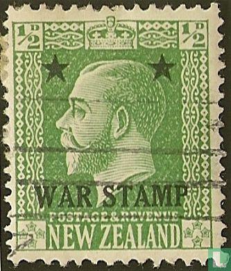Neuseeland - König George V, überdruckter Kriegsstempel