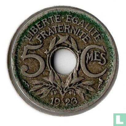 Frankrijk (France) - Frankrijk 5 centimes 1923 (bliksemflits)