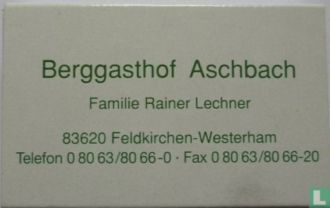 Berggasthof Aschbach - Image 1