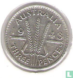 Australia - Australia 3 pence 1943 (D)