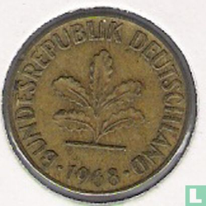 Germany - Germany 5 pfennig 1968 (J)