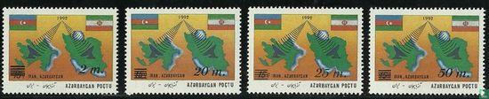 Azerbaijan - Telecommunications, with overprint