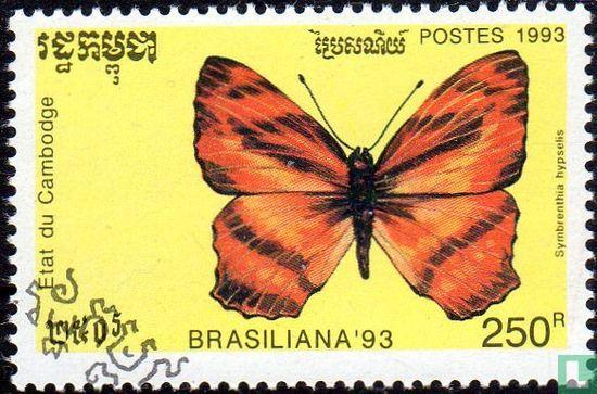 Cambodja - Brasiliana '93 - Vlinders