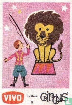 Dompteur met leeuw