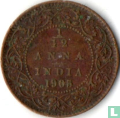 British India - British India 1/12 anna 1905 (copper)